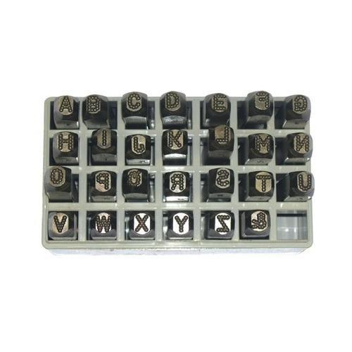 Low Stress Dot Design Steel Hand Stamp Sets - 3/8''9pc dot design number set steel hand by C.H. Hanson