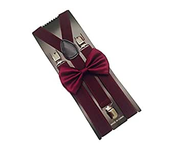 wine mens bowtie set youth bow tie and suspenders for