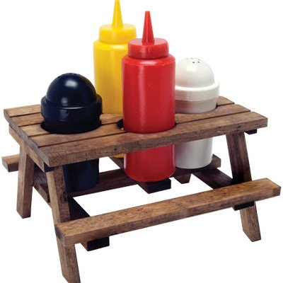Dci 14420 Dci Picnic Table Condiment Set 5 Piece Decor Craft Inc Tabletop Accessories Kitchen Dining