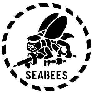 Navy Seabees - Sticker Graphic - Auto, Wall, Laptop, Cell, Truck Sticker for Windows, Cars, Trucks by Win Stickers & Decals