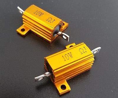 FidgetGear 10Pcs 10W Watt Power Metal Shell Wirewound Resistor 20 Ω ~ 800Ω ohm Class J ±5% 47 Ω 47RJ Ohms