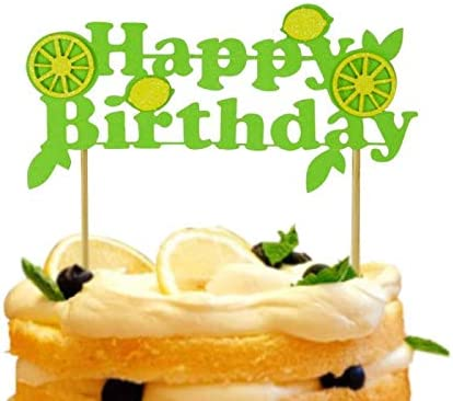 Cool Amazon Com Rainlemon Lemon Theme Happy Birthday Cake Topper Personalised Birthday Cards Paralily Jamesorg