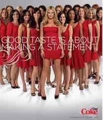 [**PRINT AD** With Heidi Klum In Red Dress For 2009 Coca Cola **PRINT AD**] (Coca Cola Dress)
