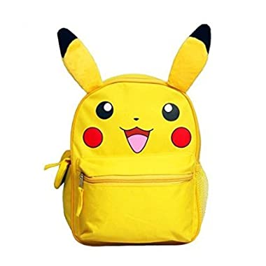 Pokemon Pikachu 12  Schcool Backpack with Ears Authentic New