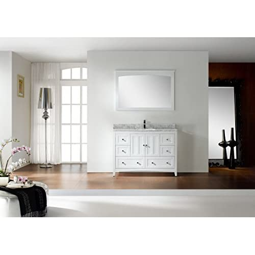 "Jade Bath JB-17669 47.5"" W x 18"" D Plywood-Veneer Vanity Set, White high-quality"