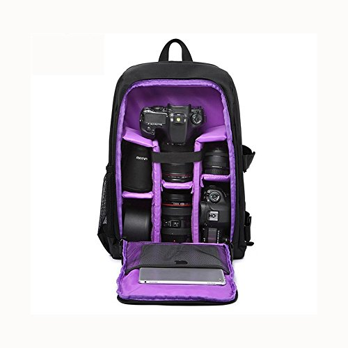 Professional DSLR Camera Rain Canon purple SLR shock Cover for Gear Photography with function Rucksack Nikon and Inner Laptop backpacks Extra Padding Waterproof Multi Anti rWqzp8rw
