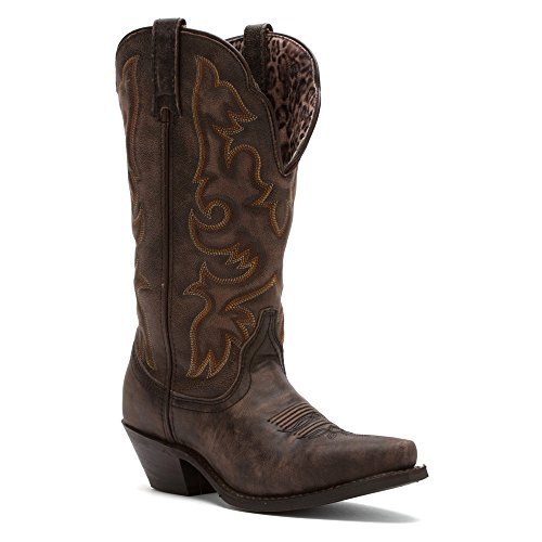Leather Women's Tan Black Western Access Goat Boot Laredo 0w16z1