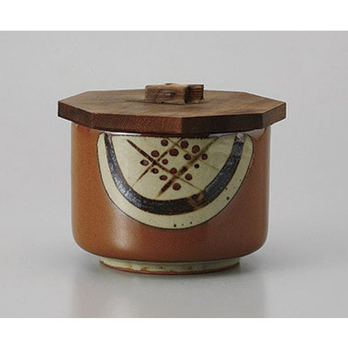 [mkd-528-29-34e] Dinner tea Mashiko round covered lidded rice vessel [11.8 x 9.3 cm] Ryotei ryokan Japanese food machine restaurant business ()