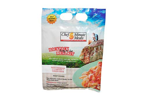 Chef 5 Minute Meals Self Heating Backpack Meal - Chicken Parmesan Pack of 12 by Chef 5 Minute Meals (Image #2)
