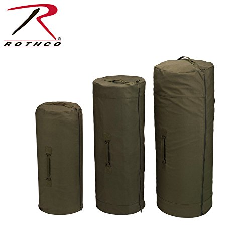 (Rothco Canvas Zipper Duffle Bag, Olive Drab, 21
