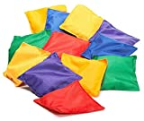 Prextex 16 Pack Nylon Bean Bags Fun Sports Game Bean Bag Carnival Toy Bean Bag Toss Game