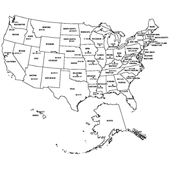 photograph relating to Printable Us Map With Capitals called : Property Comforts Laminated Map - Printable United states of america