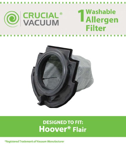 1 Hoover Flair Washable & Reusable Replacement Filter Fit...