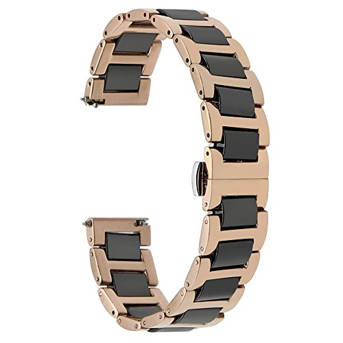 TRUMiRR 18mm Ceramic Watch Band Quick Release Strap Bracelet