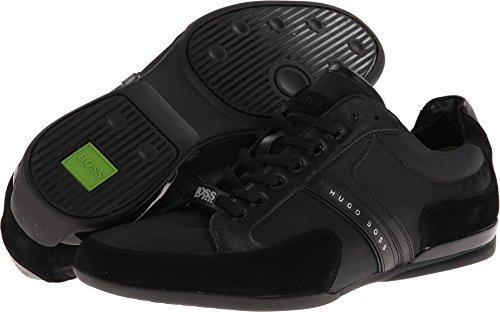 Hugo Boss BOSS Green Men's Spacit Leather Sneaker, Black, 6 Medium US