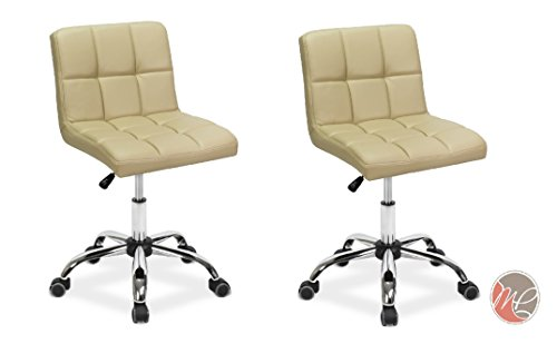 Madison & Park SET OF 2 Easy Glide Office Chair TTO CREAM Desk Chair Task, Home, or Office Chair Office Furniture - Madison Office Furniture