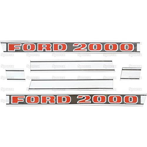 Sparex, S.8409 Decal Kit, 2000, After 1968 For Ford 2000