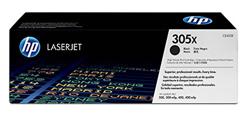HP 305X (CE410X) Black High Yield Cartridge for HP LaserJet Pro 400 Color MFP M451nw M451dn M451dw, Pro 300 Color MFP M375nw -