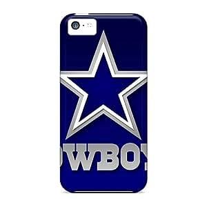 Iphone 5c PIn15877Sgng Custom Vivid Dallas Cowboys Pattern Shock Absorption Hard Phone Case -no1cases