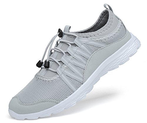 Trainers Grey Walking Gym Ladies Women for Ritiriko Road Sport Sneakers White Shoes Running Athletic 1xw76q