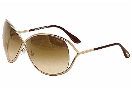 (Tom Ford Women's FT0130 Sunglasses, Shiny Rose Gold)