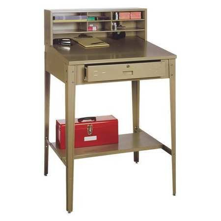 Edsal PSD7812 Steel Premier Open Shop Desk, Easy to Assemble, 34