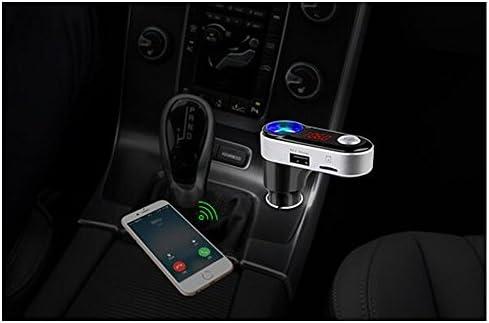 BoomboostデュアルUSB車の充電器の送信機BluetoothのハンズフリーカーキットMP3プレーヤーラジオアダプタのサポートのTFカード