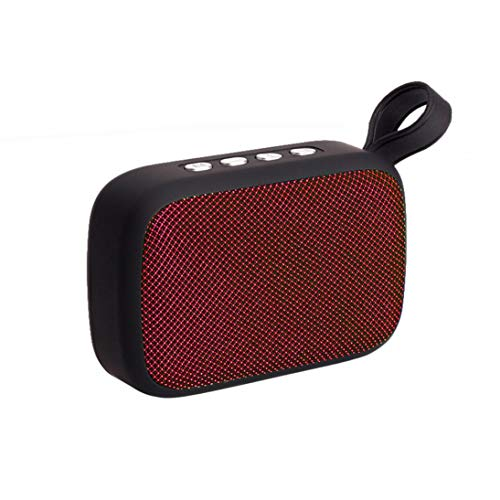 Price comparison product image Sonmer Q3 Portable Wireless Bluetooth Stereo Speaker For IPhone Smartphone Tablet Laptop, Support SD Card FM USB Function (Red)