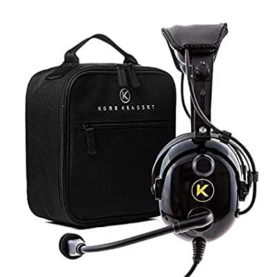 KORE AVIATION KA-1 Premium Gel Ear Seal PNR Pilot Aviation Headset with MP3 Support and Carrying Case: GPS & Navigation
