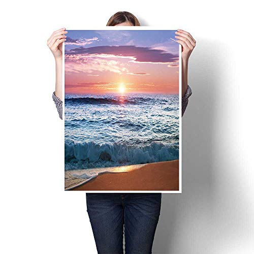 rints Artwork Picture,Sunrise at Punta Cana,Dominican Republic On Canvas Modern Seascape Home Office Decor,40