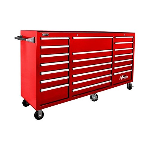 2-Inch 21-Drawer Rolling Cabinet, Red, RD04021720 ()