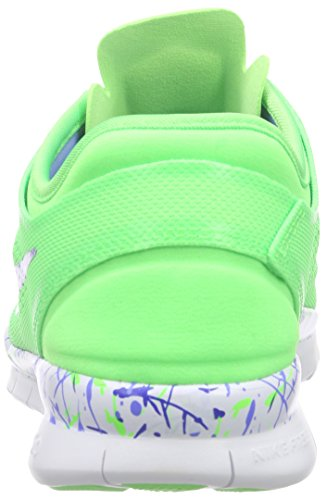Nike Wmns Nke Free 5.0 Tr Fit 5 Prt, Zapatillas de Gimnasia para Mujer Verde (Voltage Green / Chalk Blue-White)