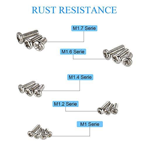 600PCS Small 12 Kinds of Screw Nuts Electronics Assortment M1 M1.2 M1.4 M1.6 #US