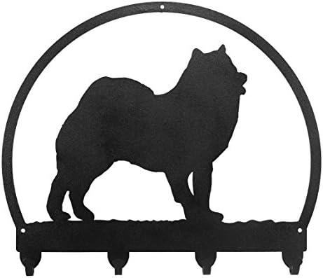 SWEN Products SCHIPPERKE Dog Black Metal Key Chain Holder Hanger