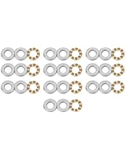 Thrust Bearing 10pcs Thrust Ball Bearing Miniature High Precision Flat Steel Bearings Set(F5-12M 5 * 12 * 4mm)