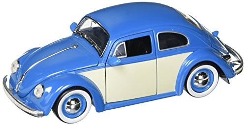 Kustom Metal - JADA 1:24 W/B Metals Bigtime Kustoms 1959 Volkswagen Beetle 2-Tone with Baby Moon Wheels Blue Die Cast Car