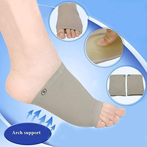 Gold Happy 2pcs/lot Gel Plantar Fasciitis Arch Support Sleeve Cushion Heel Spurs/Heel Neuromas Flat Feet Massage Orthotic Insole Pad