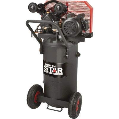 NorthStar Single-Stage Portable Electric Air Compressor – 2 HP, 20-Gallon Vertical, 5.0 CFM