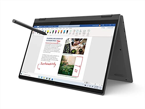Lenovo IdeaPad Flex 5 10th Gen Intel Core i5 14-inch FHD IPS 2-in-1 Touchscreen Laptop (8GB/512GB SSD/Win 10/Office 2019/Lenovo Digital Pen Stylus/Fingerprint Reader/Graphite Grey/1.5Kg), 81X10085IN