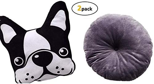 Greenbier Throw Pillow Plush Pillow Printed Dog and Cushion Plush Toy Kids Love Curling Up with Their Favorite Furry Friend Squishy Animal Pillows Cool Pillow 2 Pc