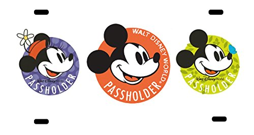 (Route 66 Puzzles Walt Disney World License Plate Annual Pass Holder Disneyland Mickey Mouse Minnie Mouse Kissing Personalized)