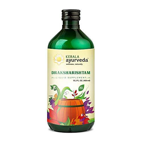Kerala Ayurveda Draksharishtam – Herbal Wine – Herbal Blood Cleanser, Pacifies Pitta, Supports Healthy Lung Function, 15…