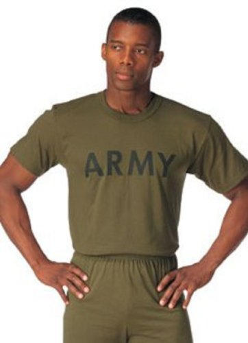 Nypd Physical Training T-shirt - Army Physical Training T-Shirt, Olive, Medium