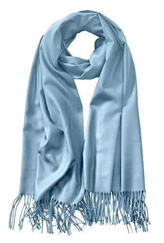 LL Shawls and Wraps Elegant Cashmere Scarfs for Women Stylish Warm Blanket Solid Winter Scarves ASH_Blue