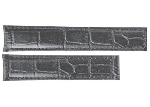 TAG Heuer Carrera Day Date Anthracite Alligator Strap 22mm FC6313