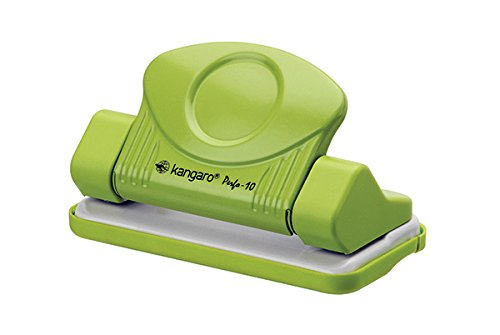 Office Products KA10 – 02 Dziurkacz Kangaro Perfo 10, Dziur Kuje Do 10 kartek Zielony Kangaro Perfo 10 Hole Punch up to 10 Sheets – Green