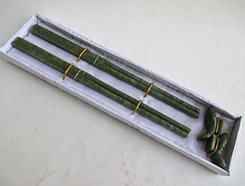 Amazon.com: Preeyawadee Natural Jade Chopsticks and Carp Stood 8.47 inch/Two Pair of Elaborate: Home & Kitchen