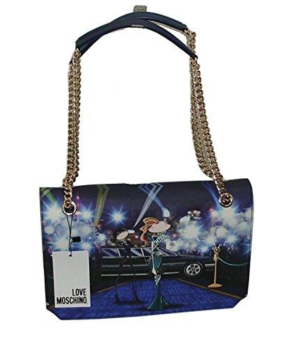 Borsa a tracolla clutch BAG Love Moschino JC4105 woman SHOULDER BAG BLU