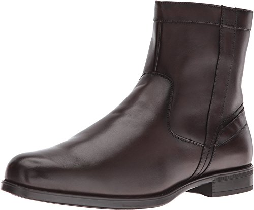 Florsheim Men's Midtown Plain Toe Zip Boot,Brown Smooth Leather,US 9.5 D ()