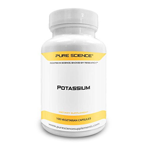Pure Science Potassium Gluconate 595mg with 5mg BioPerine (Natural Bioavailability Enhancer for better absorption) - Regulates Blood Pressure, Supports Bone & Muscle Maintenance - 100 Vegetarian Caps